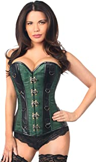 d327d3aabed43 Daisy corsets Women s Top Drawer Brocade   Faux Leather Steel Boned Corset