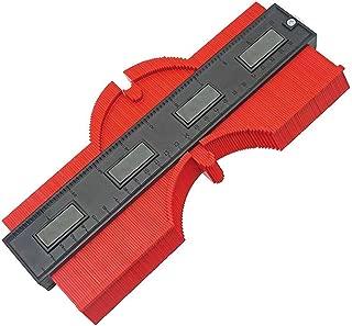 10 Inch Contour Gauge Profile Gauge Plastic Irregular Copy Contour Duplicator Tool Woodworking Tools Tiling Laminate Tiles General Tools Duplicator (Red)