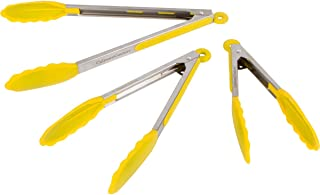 yellow kitchen tongs
