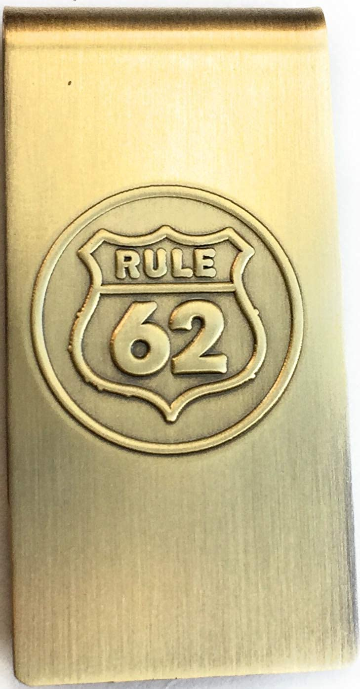 Rule 62 Don't Take Yourself Too Damn Serious AA Money Clip Brass Bronze