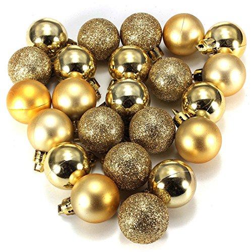 Bola de adorno - TOOGOO(R) 24 piezas XMAS bolas brillas elegantes de adorno de...