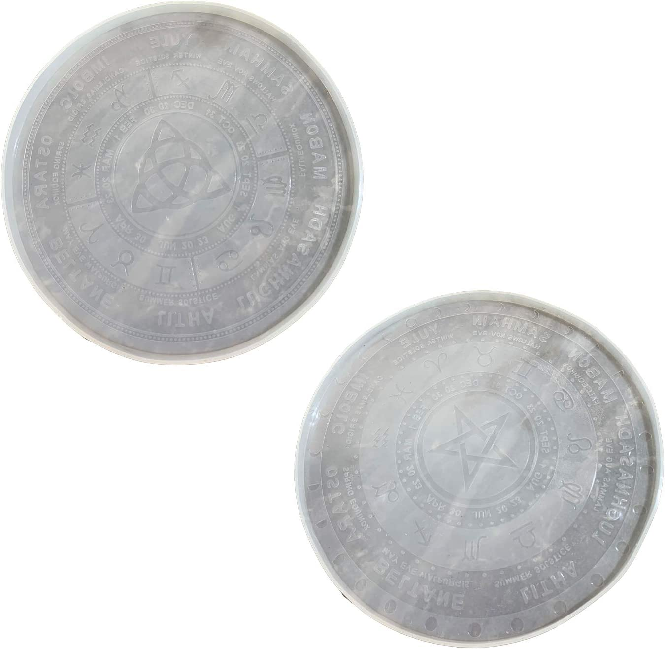 Lcoor 2Pcs Resin Mold Tarot Divination Max 59% OFF Divin Mat for Popular shop is the lowest price challenge Epoxy Molds