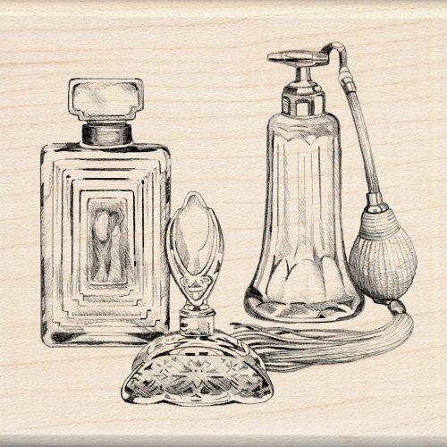 EK Success Inkadinkado Holz Stempel, Antik Parfüm Flaschen