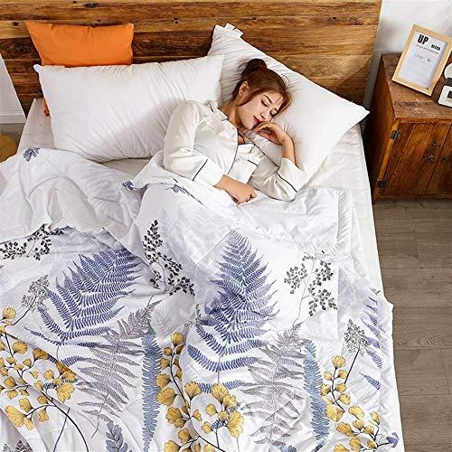 Funda nórdica doble y King Quilt Consolador antibacteriano de microfibra ligera Beding 100 % algodón, lanzamientos para sofá cama Throw 030 (color: E, tamaño King)