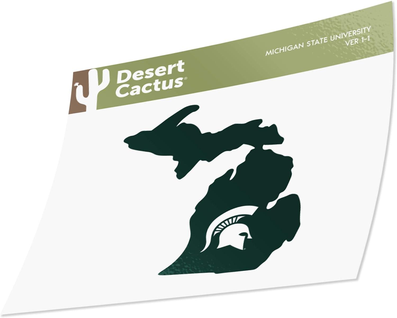 Michigan State University Vinyl Decal Laptop Water Bottle Car Scrapbook (State Border Sticker)