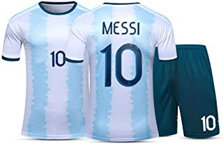 Rayuwen Jersey Kit World Cup T Shirts Argentina #10 Messi Training Fc Jersey Tops Football Clothes for Adult Youth