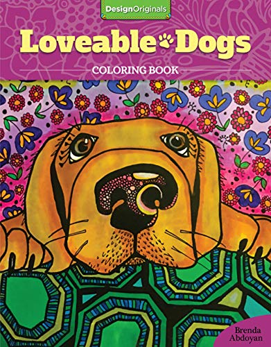 Price comparison product image Lovable Dogs Coloring Book (Design Originals) 32 Cute Pups from Great Danes & Pit Bulls to Scottish Terriers & Chihuahuas,  with Inspiring Quotes & Finished Examples on High-Quality Perforated Paper