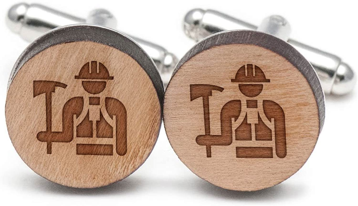Wildland Firefighter Cufflinks, Wood Cufflinks Hand Made in the USA