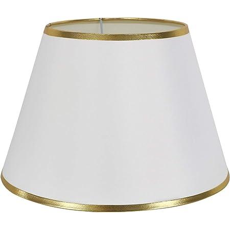 """DULEE Φ 12"""" Lampe de Table Simple Abat-Jour de Chevet Abat-Jour Mural,White mit Gold Brim (Haut) 18*(Taille) 20cm*(Bas) 30cm"""