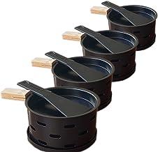 Kandelaar - 4 afzonderlijke pannetjes overal mee naartoe nemen - Smelt je kaas snel - Set van 4