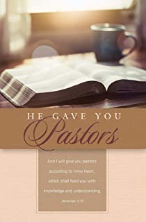B&H Publishing Group Bulletin-and He Gave You Pastors (Jeremiah 3:15 KJV) (Pack of 100) (Aug)