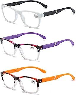 Leesbril 3 stuks computerbril heren en dames mode leesbril met comfortabele veerscharnieren bril