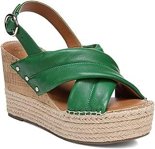 Franco Sarto Women's Niva Wedge Sandal, Green Leather, 7.5 M
