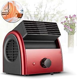 Portátil Ventilador Calefactor, cerámica PTC calentador de aire eléctrico, temperatura constante, el exceso de calor y de vuelco Protección, tranquilo, para el hogar, dormitorio, oficina (300 / 600W)