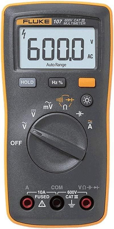 Fluke 107 Ac Dc Current Handheld Digital Multimeter By Fluke Gray