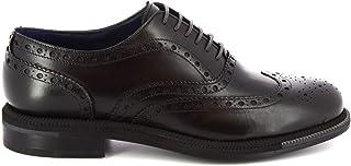 Leonardo Shoes Scarpe Stringate Brogues Uomo Artigianali Pelle di Vitello Nera - Codice Modello: 892GO PE Vitello Nero