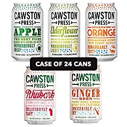 ★ Case of 24 Cans - Any 2 Flavours - Cawston Making Fizzy Good Again ★ The Best Fruit Harvested Whilst it's Brimming With Flavour ★ Made From Pressed Juice ★ No Added Sugars or Sweeteners ★ Less than 90 Calories Per Can!