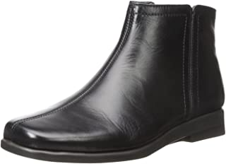 Best black leather slip on boots Reviews