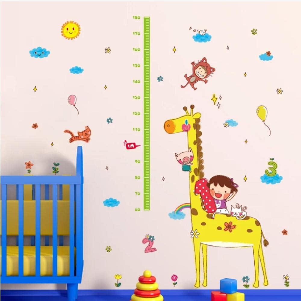Baltimore Mall AGhsjdhjdb Cartoon Giraffe Height Ruler Kids Sticker Ranking TOP16 Wall Rooms