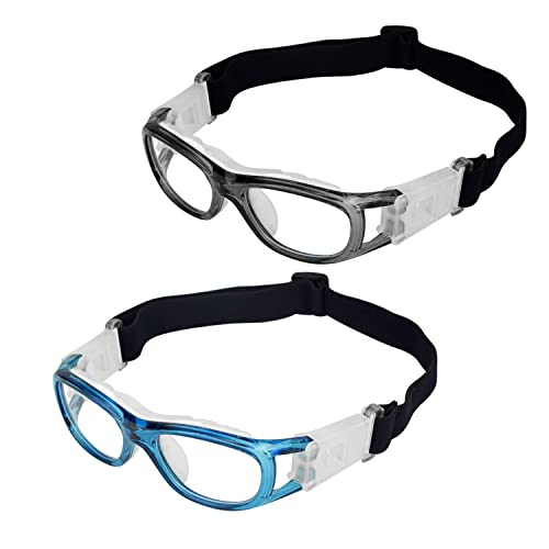 e64f987ef7 Elemart(TM) 2 PCS Kids Sport Glasses - Adjustable Anti-fog Protective  Children