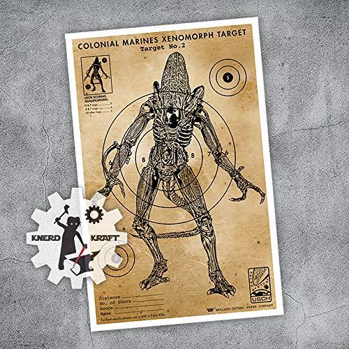 Aliens - Xenomorph Vintage Target - 11x17