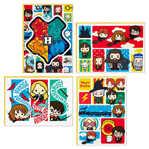 Hallmark Kids Harry Potter All Occasion Cards Assortment, 12 Blank Cards with Envelopes (Hogwarts)