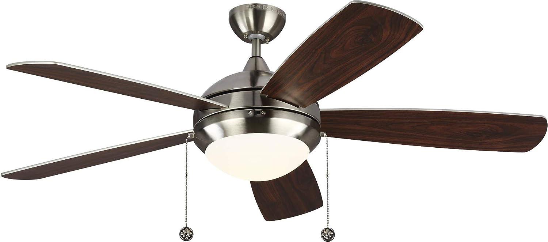 Monte Carlo 5DIC52BSD-V1 Miami Mall Discus Tulsa Mall Classic Fan with Ceiling Adv 52