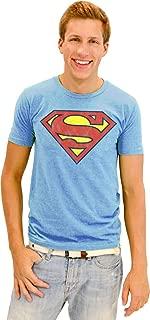 Junk Food Superman Basic Logo Men's Graphic Blue T-Shirt