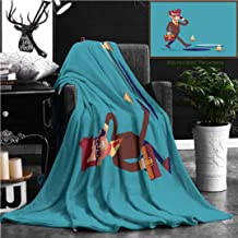 """Unique Custom Flannel Blankets Businessman Going On The Street And Talking By Cell Phone He Doesn T Notice Open Manhole And Cou Super Soft Blanketry for Bed Couch, Twin Size 70"""" x 60"""""""