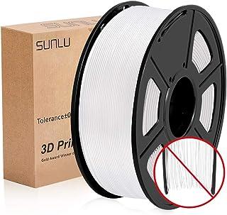 SUNLU Filamento Impresora 3d, Filamento 1.75 PLA, 3D Filament PLA+, 1KG Blanco puro