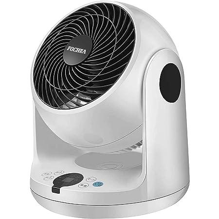 Fochea サーキュレーター扇風機 3D立体首振り 風量3段階調節 静音モード搭載 18畳 パワフル送風 タイマー機能 タッチパネル 最新モデル リモコン付き 省電力 送風機 部屋干し 洗濯 浴室乾燥