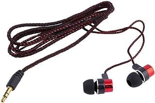 healthwen Auricular Cableado Trenzado Super Bass In Ear Auricular estéreo Aislamiento de Ruido