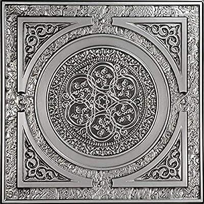 Steampunk-Faux Tin Ceiling Tile - Antique Copper 25-Pack