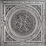 Steampunk-Faux Tin Ceiling Tile - Antique Silver 25-Pack