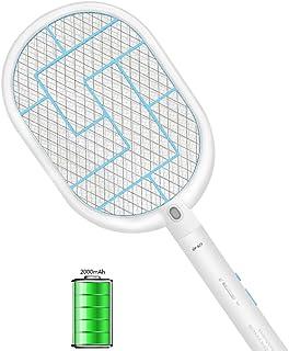 Chlry Raqueta Matamoscas electrico Recargable Mata Mosquitos con Batería de Litio de 2000 mAh y Luces LED Evitar el diseño de Choque eléctrico, antimosquitos Mata Insecto Moscas Interior