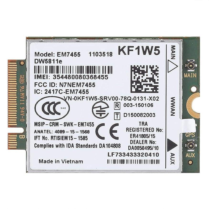 白いリフレッシュグレートオークDW5811eクアルコム4G LTE WWAN NGFFカードモジュール交換用 交換用ワイヤレスEM7455