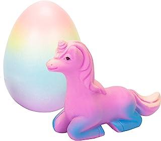 Surprise Growing Unicorn Hatching Rainbow Egg Kids Toys, Assorted Colors Multi