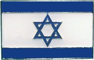 Spilla in Metallo smaltato Bandiera Israele Stella di David
