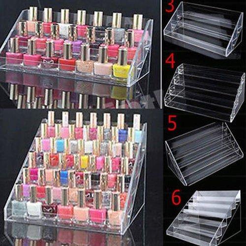 GOTOTOP Nagellak tafel rek, acryl helder make-up display standaard rek organizer houder (4 etages)