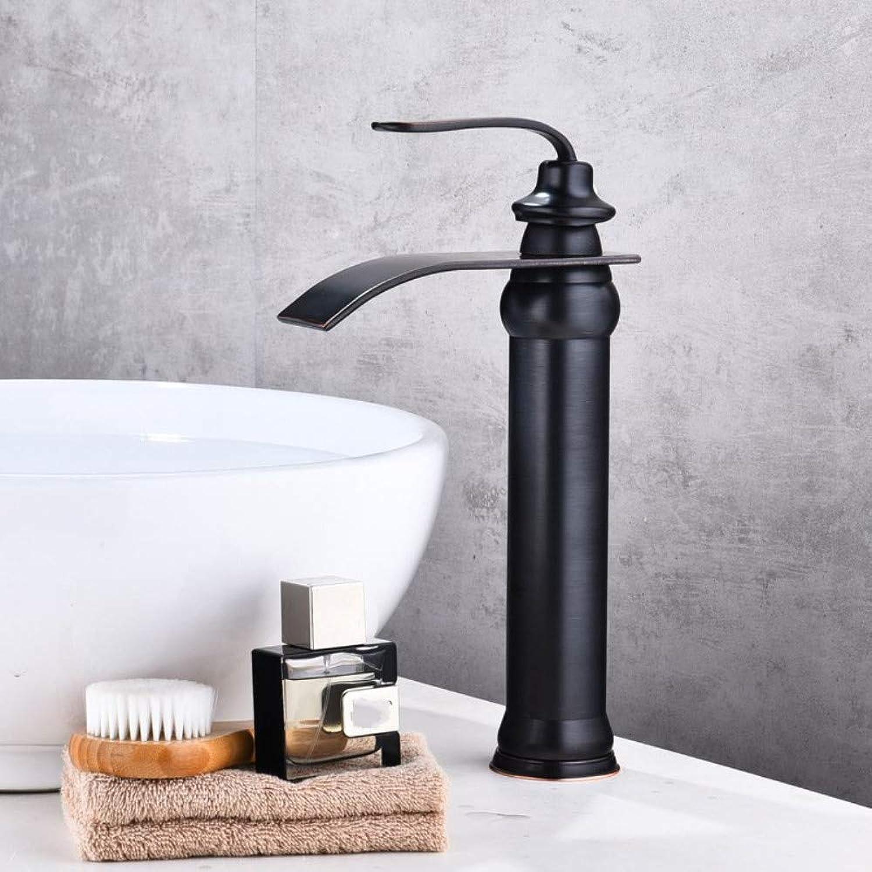 redOOY Faucet Taps Basin Faucet Above Counter Basin Black Hot And Cold Copper Wash Basin Basin Faucet Hot And Cold Bathroom Bathroom Cabinet Faucet