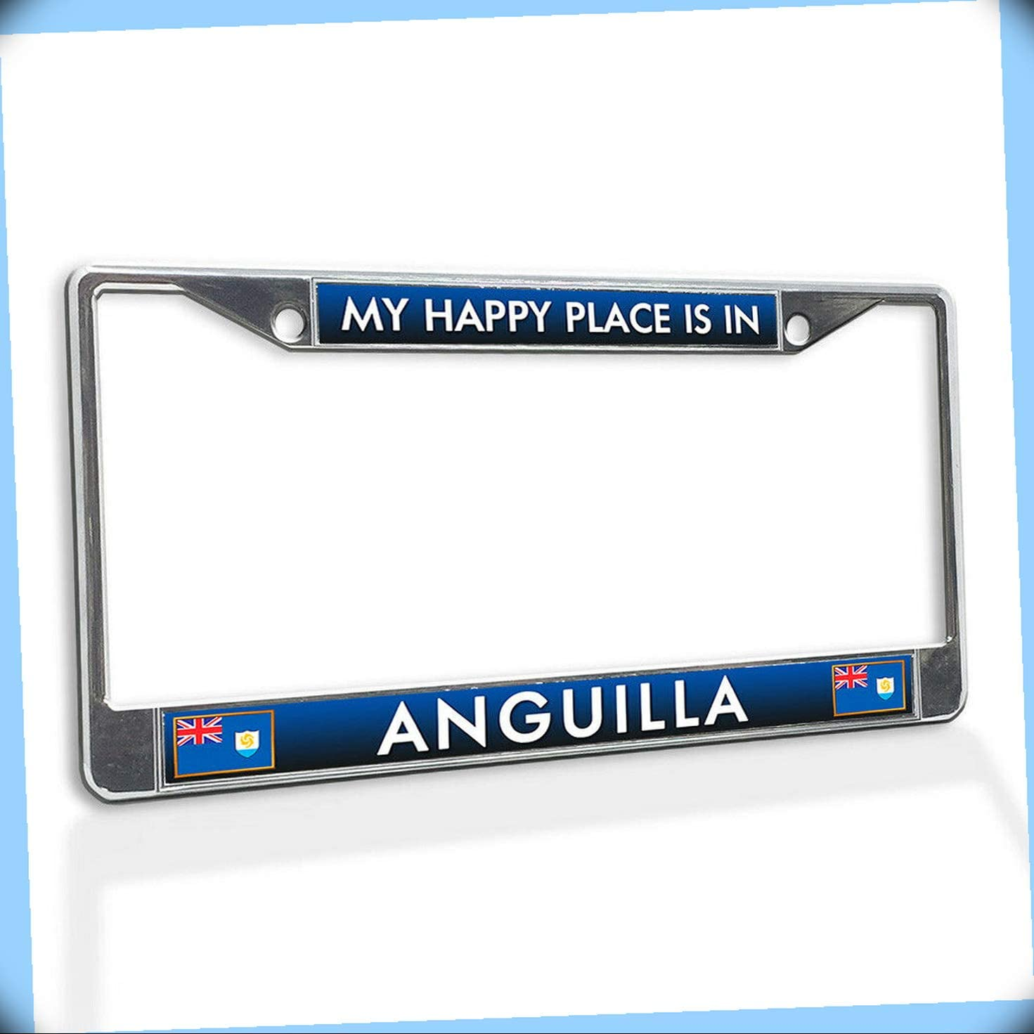 New Metal Opening Max 63% OFF large release sale Novelty Aluminum Alloy License Plate Inser Vinyl Frame