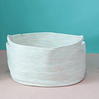 446f488f91e ICEBLUE HD 23.6INX17.7INX23.8IN XXX Large Natural Cotton Woven Rope Storage  Basket