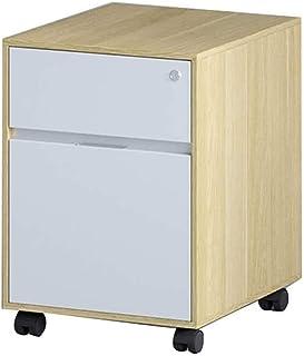 RUCC Table d'armoire de l'armoire de bureau de bureau de dossier sous l'armoire de stockage, petite armoire avec serrure (...