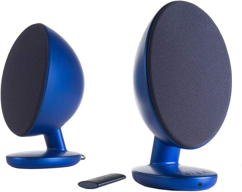 KEF EGG Versatile Desktop Speaker System - Frosted Blue (Pair)