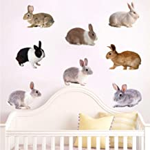 TOHHOT Adhesivo de Pared de Conejo para Sala de Estar, Dormitorio, decoración de habitación para niños, calcomanías ksr-17f