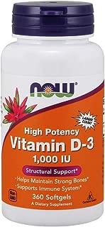 Now Supplements, Vitamin D-3 1000 IU, 360 Softgels