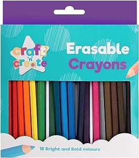 Erasable Crayons, conjunto de 18 para colorear ceras