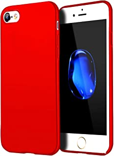 Compatible for iPhone 6 Plus case/iPhone 6S Plus Case, Anti-Fingerprint,Matte Finish Comfortable Silky Smooth Touch Great Grip Feeling Slim Fit Ultra Thin Hard Plastic Anti-Scratch Cover-Red