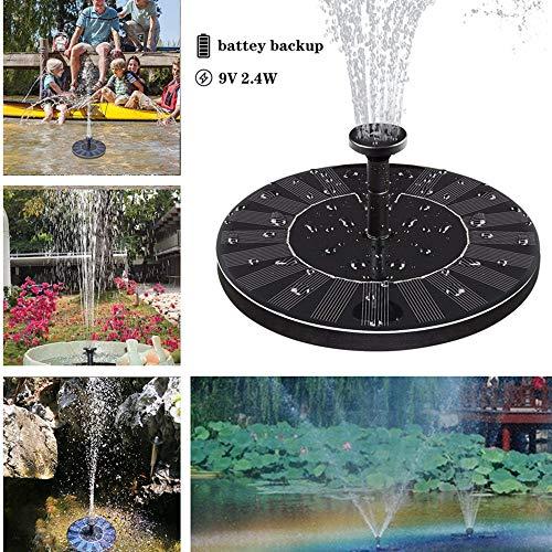 ETbotu Cadeaus voor kinderen – fontein op zonne-energie met elektrische opslag voor vijver zwembad, tuinvissen, 9 V, 2,4 W