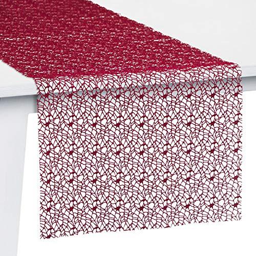 Pichler Tischset Tischband Tischläufer Mitteldecke Network, Burgund, Größe:Tischset 33 x 46 cm